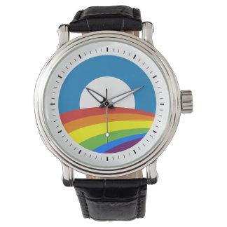 Arco iris Obama del orgullo gay Reloj De Mano