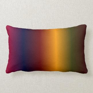 Arco iris oscuro cojín lumbar