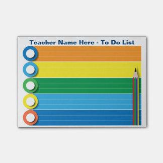 Arco iris para hacer la lista - notas de post-it