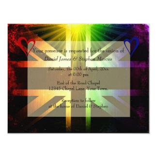 Arco iris Reino Unido Invitación 10,8 X 13,9 Cm
