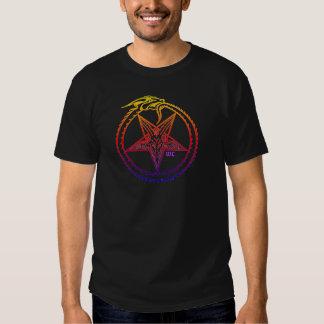 arco iris satánico camisetas