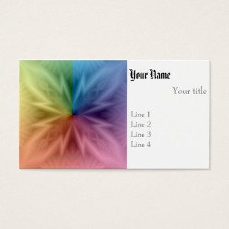 Arco iris simétrico tarjeta de visita