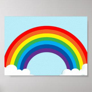 Arco iris simple póster
