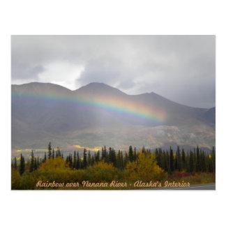 Arco iris sobre el valey de los colores de la postal
