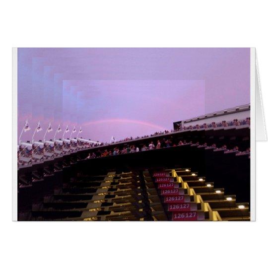 arco iris sobre lev de la sección 126 del tarjeta de felicitación