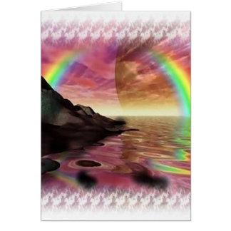 Arco iris tarjetas