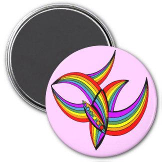 Arco iris tatuaje 4 iman para frigorífico
