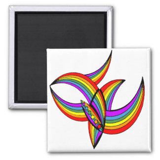 Arco iris tatuaje 4 iman de frigorífico