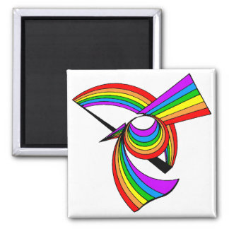 Arco iris # tatuaje 5 imán de frigorifico