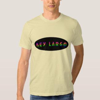 Arco iris tropical azul del Largo dominante Camisetas