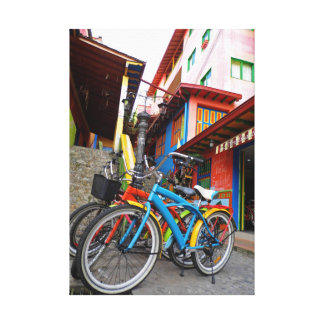 Arco iris urbano impresión en lona
