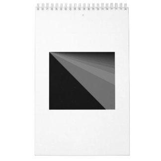 Arco iris y calendario negros de los umbrales 2017