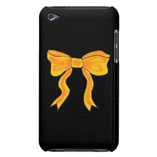 Arco lindo del amarillo anaranjado barely there iPod carcasas