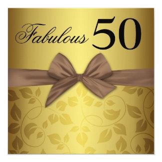 Arco ornamental cincuenta fabulosos del oro invitación 13,3 cm x 13,3cm