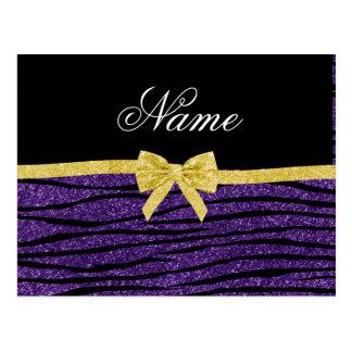 Arco púrpura conocido de encargo del oro de las postal