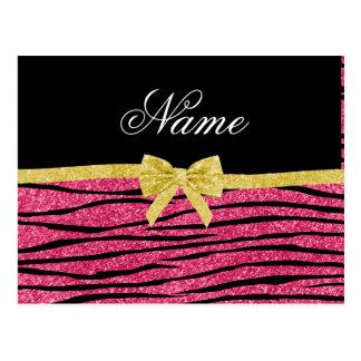 Arco rosado conocido de encargo del oro de las postal