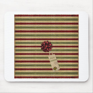 Arco y etiqueta de las rayas del navidad tapetes de ratones