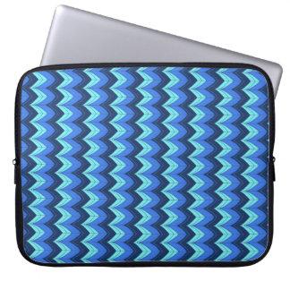 Arcos azules funda para portátil