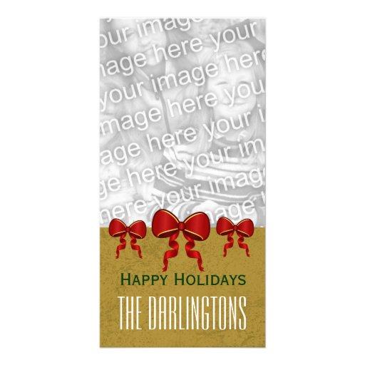 Arcos del rojo de GROUPON y Felices Navidad V11 Tarjetas Personales