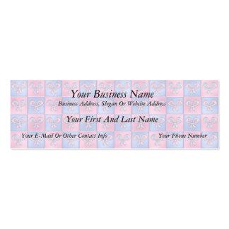 Arcos del rosa y del azul tarjetas de visita mini