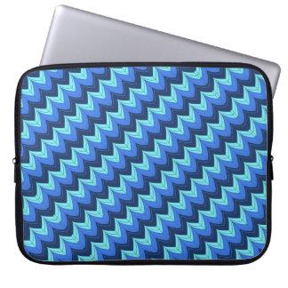 Arcos diagonales del zigzag funda para portátil