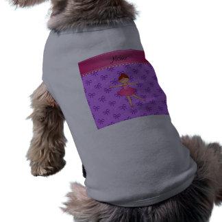 Arcos en colores pastel personalizados de la camiseta sin mangas para perro