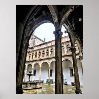 Arcos españoles en Santiago de Compostela Póster