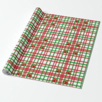 Arcos y rayas del navidad papel de regalo