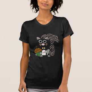 Ardilla artística divertida con arte abstracto de camiseta