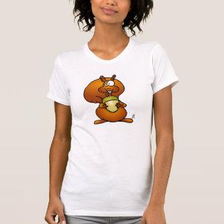 Ardilla con la bellota camisetas