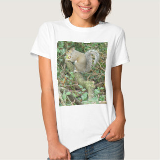 Ardilla con la camiseta de la bellota
