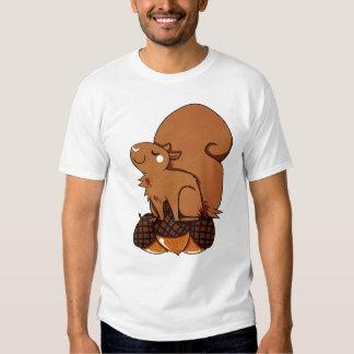Ardilla con las bellotas camiseta