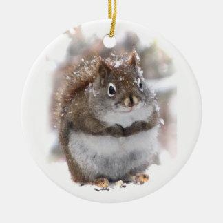 Ardilla dulce ornamento para arbol de navidad