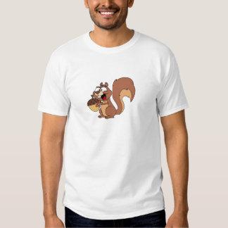 Ardilla feliz con la bellota camisetas