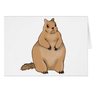 ardilla gorda tarjeta de felicitación