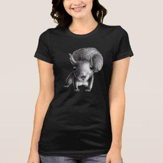 Ardilla linda curiosa camiseta