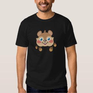 Ardilla y bellotas camiseta