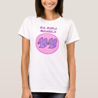 Ardillas púrpuras malvadas camiseta