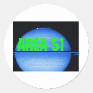 área 51 pegatina redonda