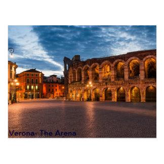 Arena de Postacard de Verona Postal
