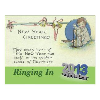 Arenas de la postal del Año Nuevo del tiempo