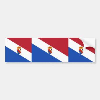 Arenas Del Rey, bandera de España Pegatina De Parachoque