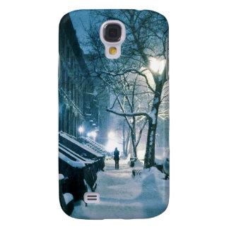 Areniscas de color oscuro cubiertas en nieve funda samsung s4