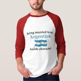 Argentina construye el carácter camisetas