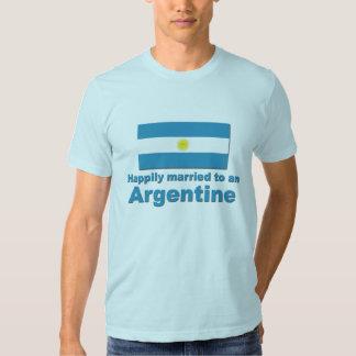 Argentina feliz casada camisetas
