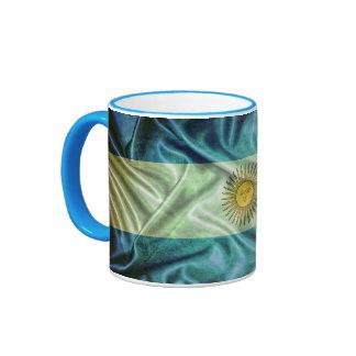 Argentina flag. taza de dos colores