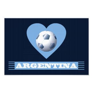 ARGENTINA Fútbol Corazón y Bufanda Brasil 2014 Arte Fotográfico