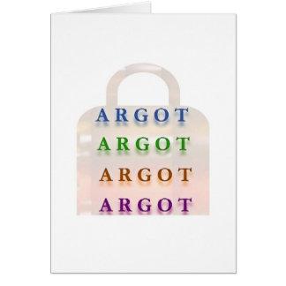 ARGOT:  Palabras francesas de la travesura Tarjeta De Felicitación