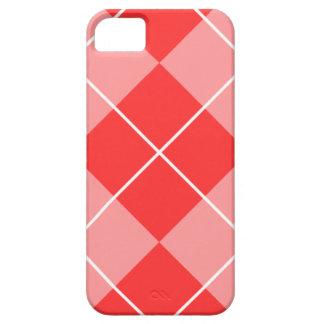 Argyle color de rosa y rosado iPhone 5 Case-Mate protector