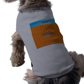 Argyle conocido personalizado del naranja del camiseta sin mangas para perro